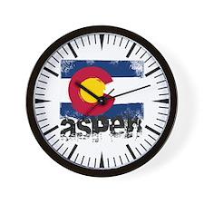 Aspen Grunge Flag Wall Clock