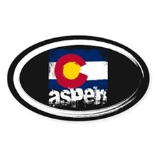 Aspen Grunge Flag Decal