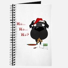 Pug Santa's Cookies Journal