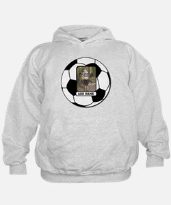 Photo and Name personalized soccer ball Hoodie