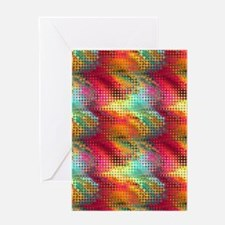 Colorful Liquid Mirco Dots Greeting Card