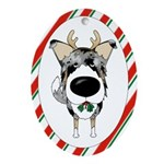 Smooth Collie Christmas Ornament (Oval)
