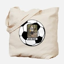 Photo and Name personalized soccer ball Tote Bag