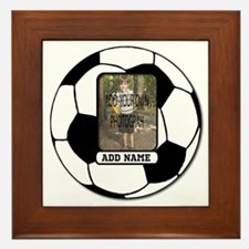 Photo and Name personalized soccer ball Framed Til