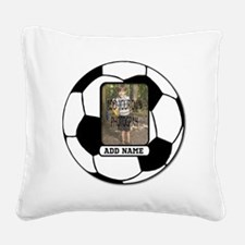 Photo and Name personalized soccer ball Square Can