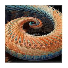 Dragon tail fractal Tile Coaster