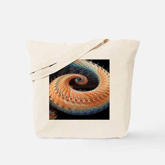 Dragon tail fractal Tote Bag