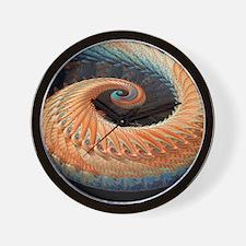 Dragon tail fractal Wall Clock