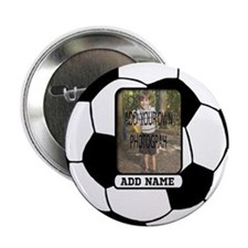 """Photo and Name personalized soccer ball 2.25"""" Butt"""