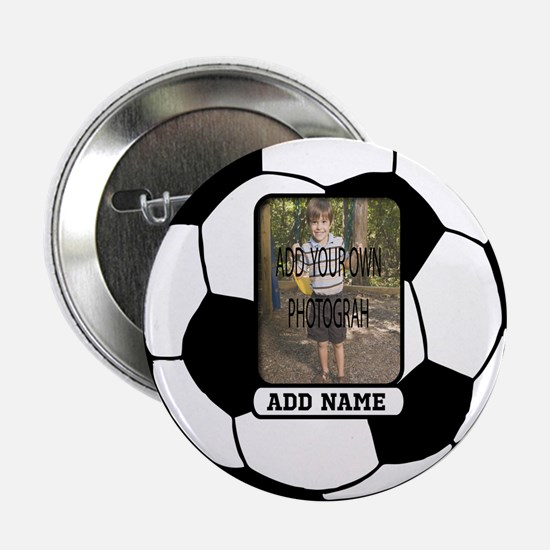 "Photo and Name personalized soccer ball 2.25"" Butt"