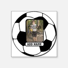 Photo and Name personalized soccer ball Sticker