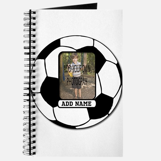 Photo and Name personalized soccer ball Journal