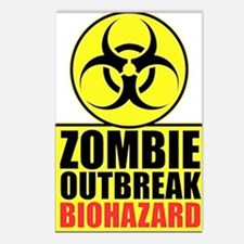 Zombie response team keep Postcards (Package of 8)