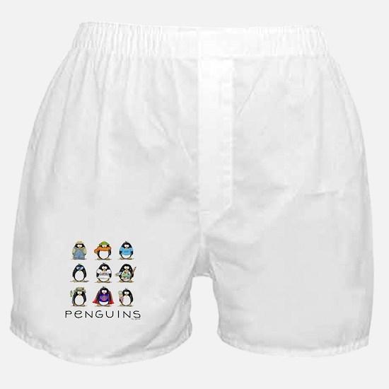 Nine Penguins Boxer Shorts