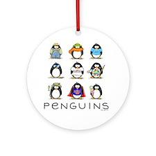 Nine Penguins Ornament (Round)