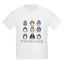 Nine Penguins Kids T-Shirt