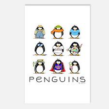 Nine Penguins Postcards (Package of 8)