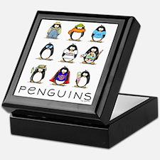 Nine Penguins Keepsake Box