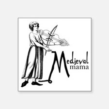 "medieval Mama Square Sticker 3"" x 3"""