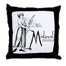 medieval Mama Throw Pillow