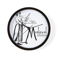 medieval Mama Wall Clock