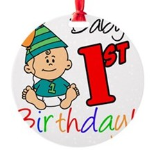 Babys First Birthday Button Ornament