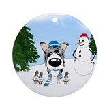 Blue merle smooth collie christmas Ornaments