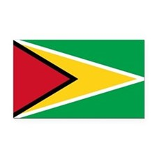 Guyana Rectangle Car Magnet