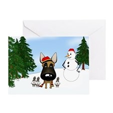 Malinois Snow Greeting Card