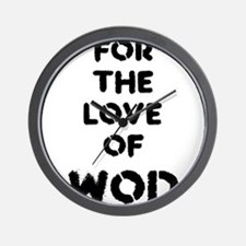 For the Love of WOD Wall Clock