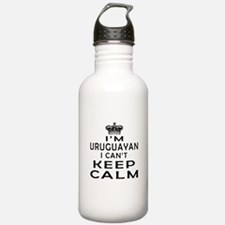 I Am Uruguayan I Can Not Keep Calm Water Bottle