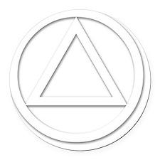 AA_symbol_white Round Car Magnet