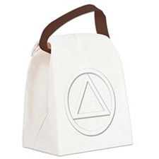 AA_symbol_white Canvas Lunch Bag