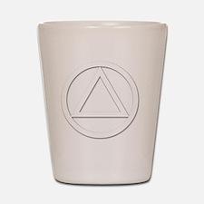 AA_symbol_white Shot Glass