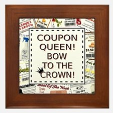 COUPON QUEEN! Framed Tile