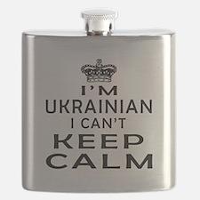I Am Ukrainian I Can Not Keep Calm Flask