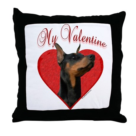 Dobie Valentine Throw Pillow