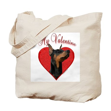 Dobie Valentine Tote Bag