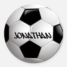 Customizable Soccer Ball Round Car Magnet