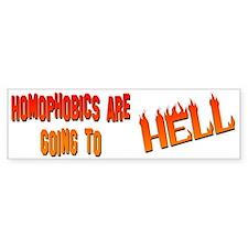 """""""Homophobics"""" Bumper Bumper Sticker"""