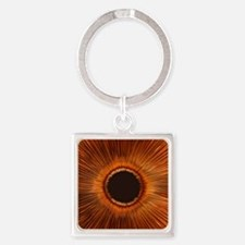 An abstract hole Square Keychain