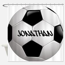 Customizable Soccer Ball Shower Curtain