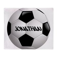 Customizable Soccer Ball Throw Blanket