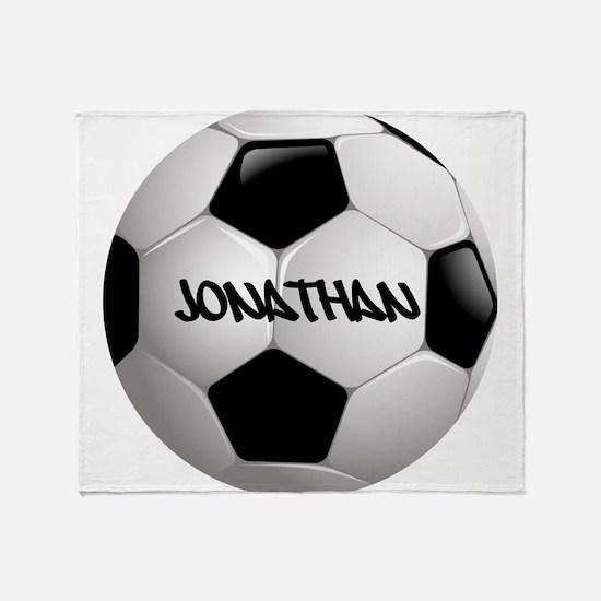 Customizable Soccer Ball Throw Blanket