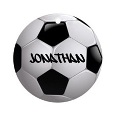 Customizable Soccer Ball Ornament (Round)
