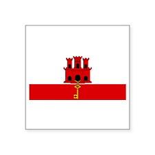 """Gibraltar - Dark Square Sticker 3"""" x 3"""""""