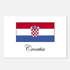 Croatia - Flag Postcards (Package of 8)
