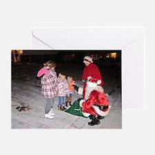 Roving Christmas Tree  Greeting Card