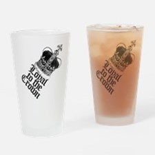 British Crown Drinking Glass