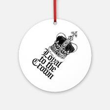 British Crown Round Ornament